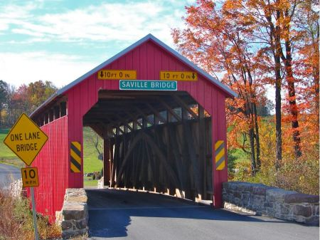 Free Saville Covered Bridge Saville Township Pennsylvania