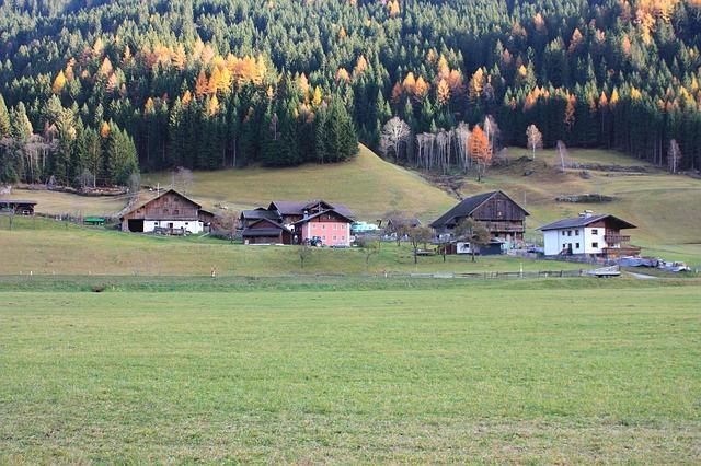 Free mörtschach switzerland landscape village forest