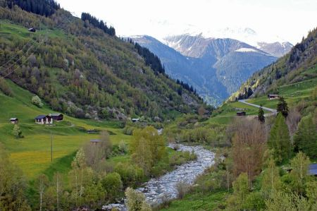 Free Beautiful view from Fluela Pass near Davos, Grisons, Switzerland