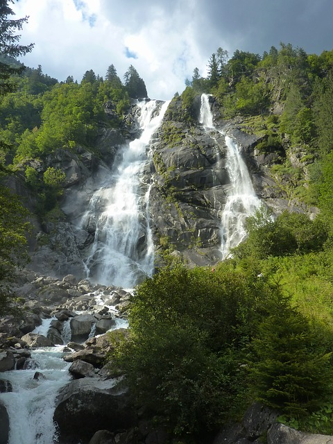 Free italy waterfalls cascade cascading landscape