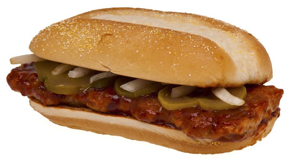 Free A McDonald's McRib sandwich