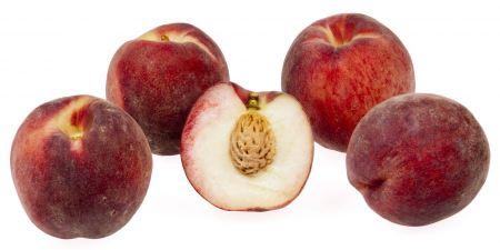 Free Peaches isolated on white