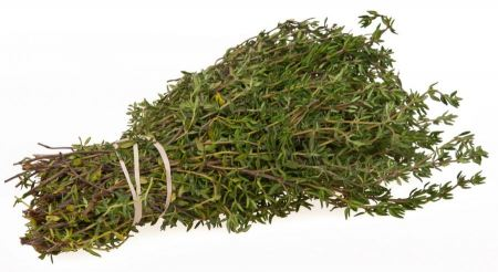 Free Fresh thyme herb on white background
