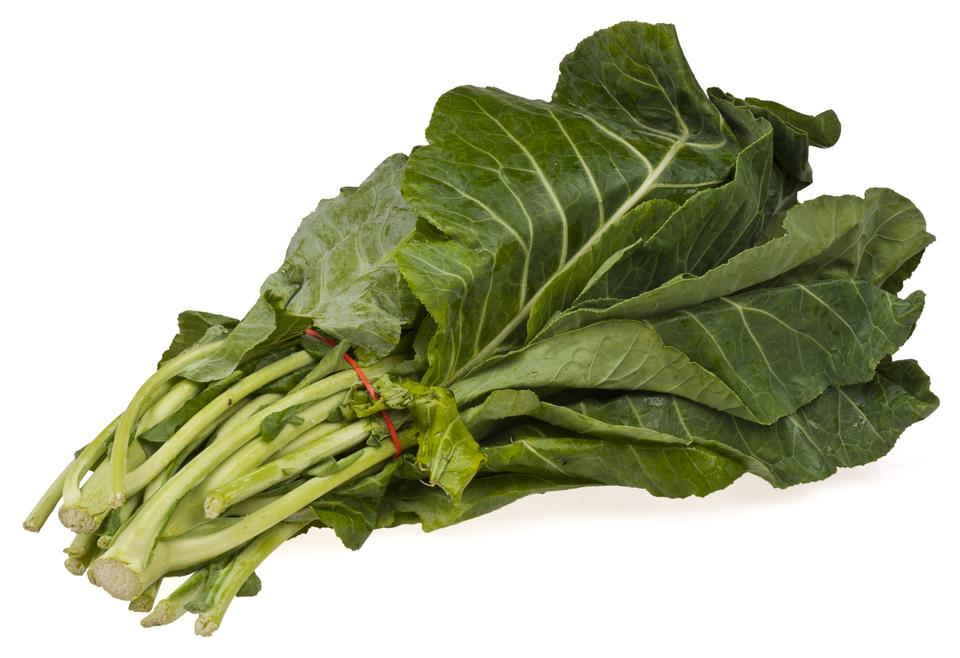 Free Vegetable collard greens over white background