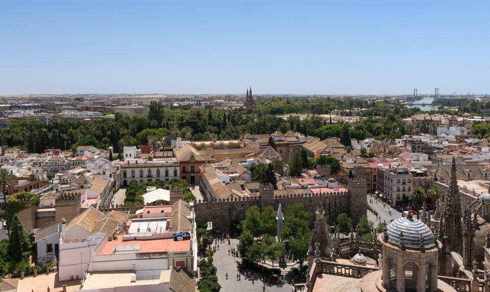 Free Real Alcazar Gardens in Seville Spain
