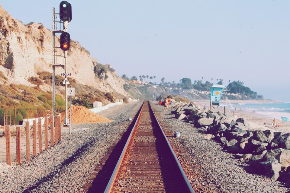 Free Railway tracks by the beach