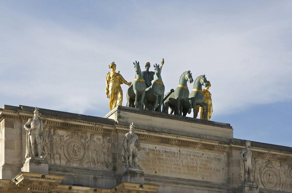 Free Top figures on the Arc de Triomphe du Carrousel Paris