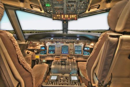 Free Cockpit of Aircraft