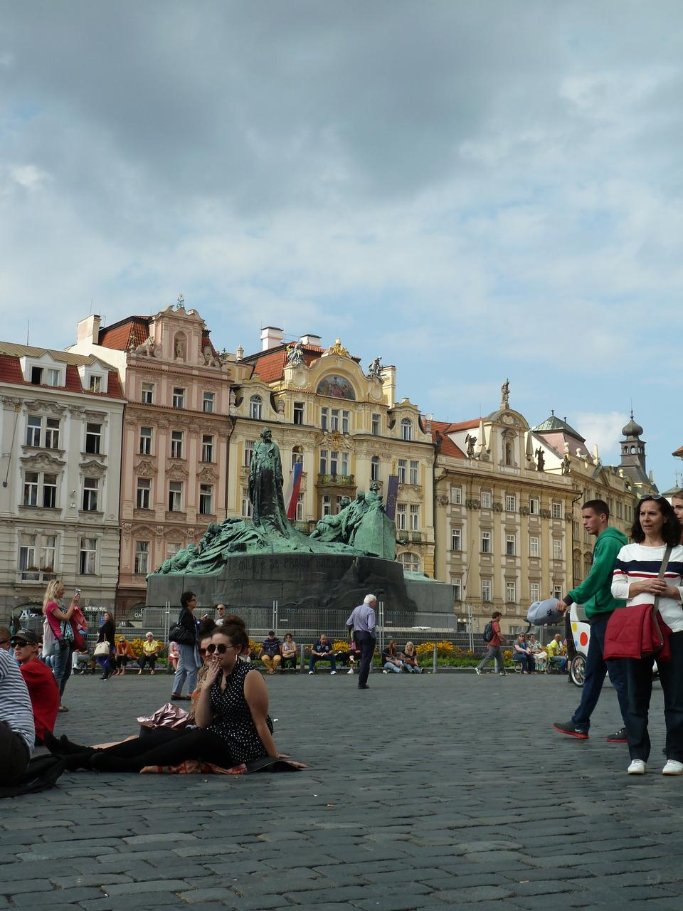 Free View on Old Town Square in Prague, Czech Republic