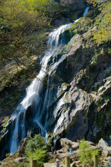 Free Powerscourt Waterfall attracted attention by the beautiful cascad