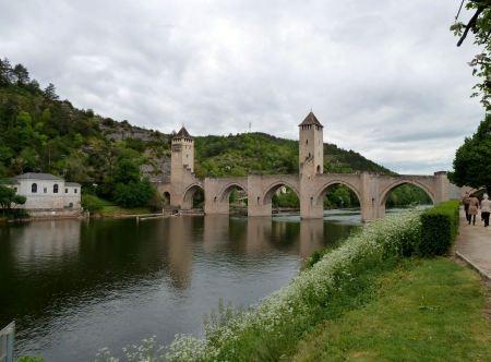 Free Medieval Valentre bridge in Carhors in southwest France