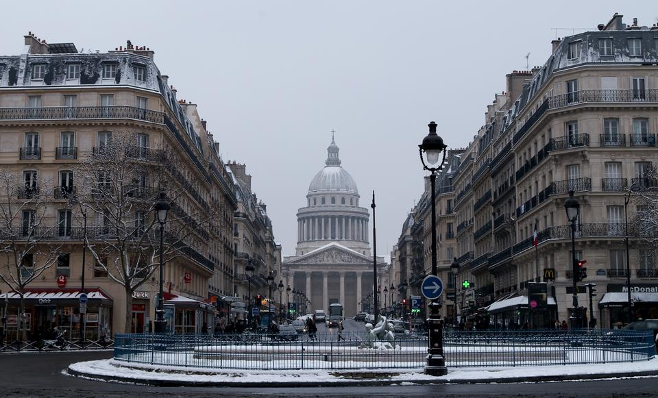 Free Place Edmond Rostand and Pantheon in France