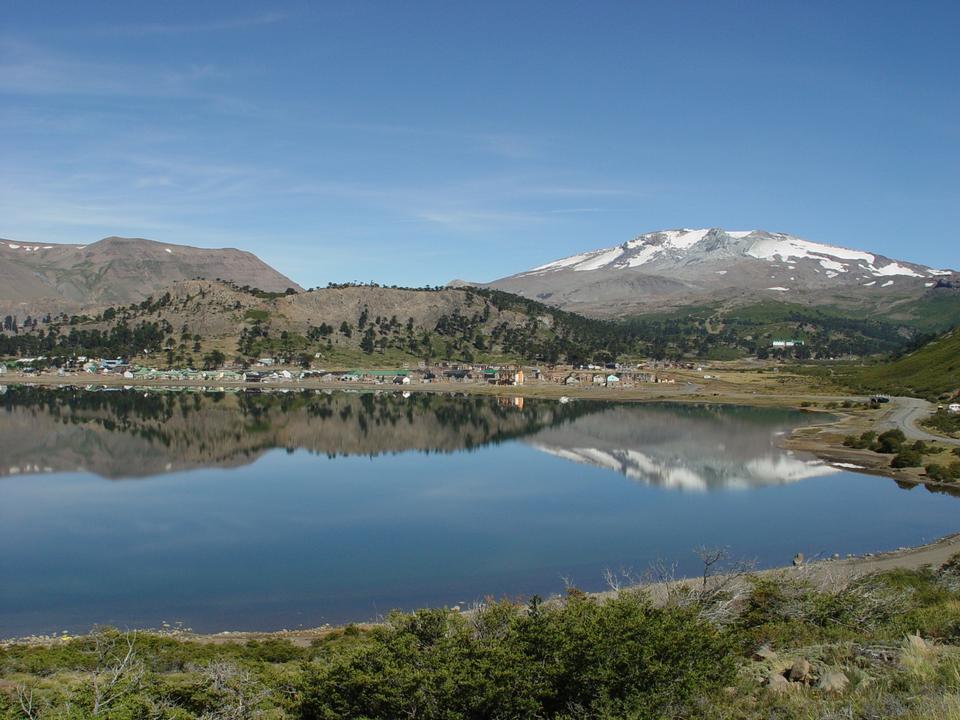 Free Caviahue lake, Patagonia, Neuqen. Land of dinosaurs