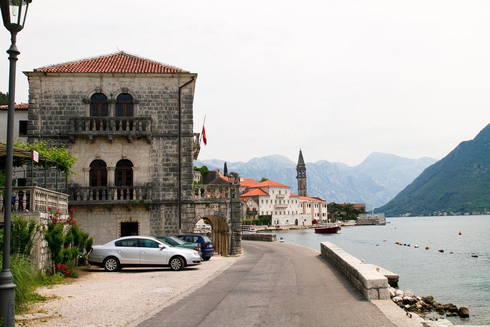 Free Small Mediterranean harbor with venetian architecture