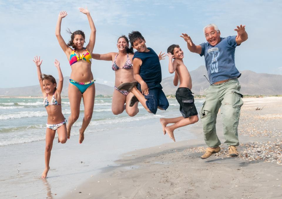 Free Photos: People jumping on the beach | peopleshot