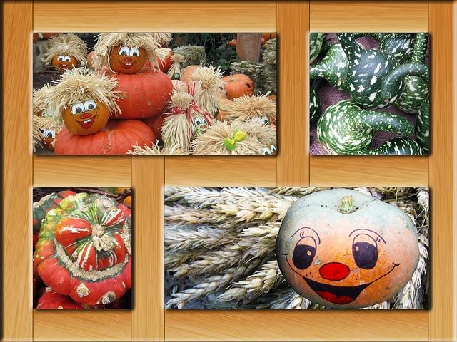 Free pumpkin pumpkins poster autumn frame decoration