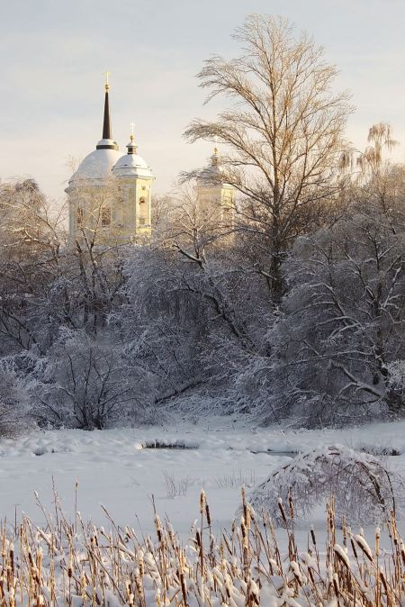 Free Church in snow