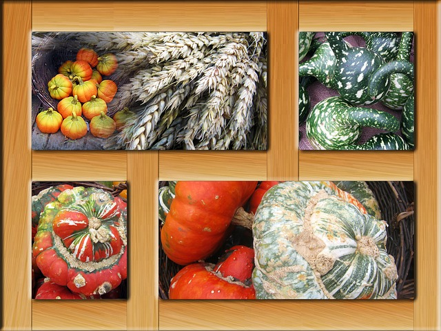 Free poster autumn frame decoration colorful october