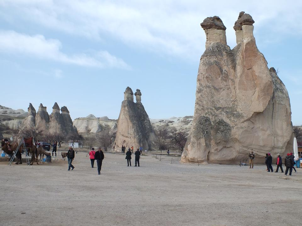 Free Pasabag Valley is located near Goreme, Cappadocia, Turkey