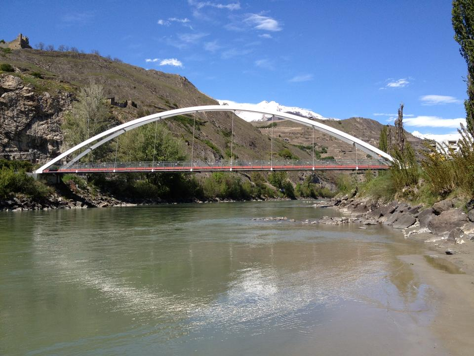 Free Bridge situated in Sion, Switzerland