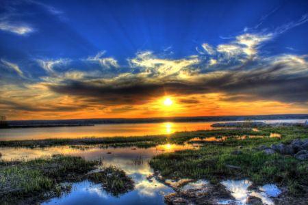 Free Splendid Sunset over Superior