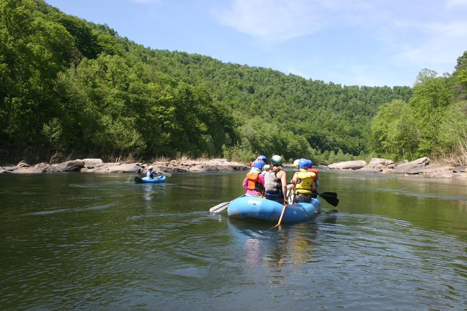 Free White water rafting on the rapids of river