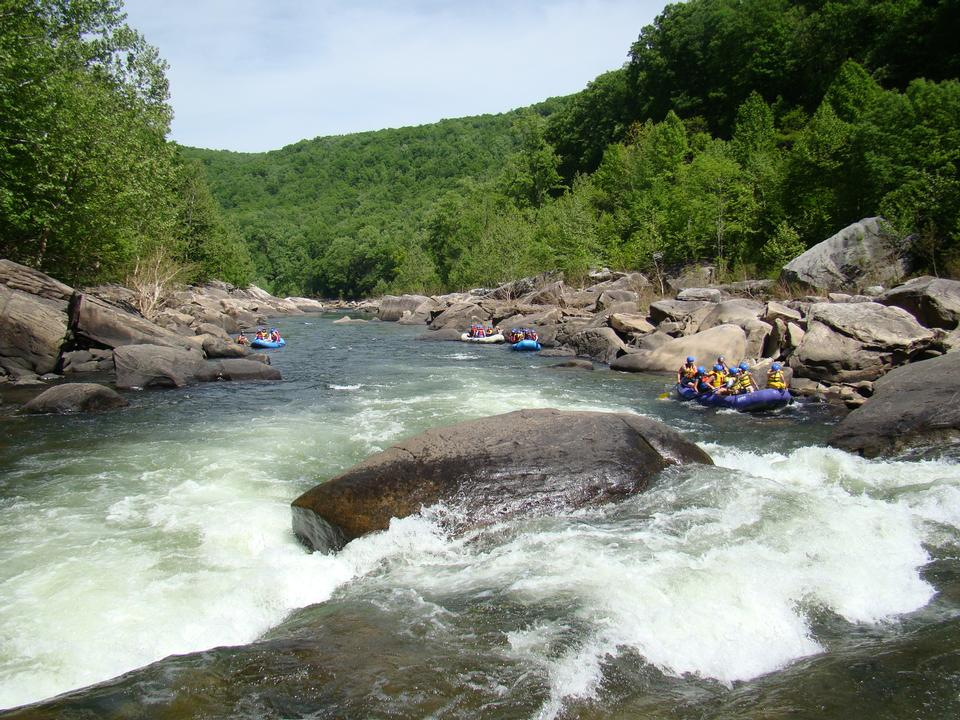 Free white water rafting