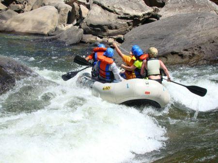 Free white water rafting