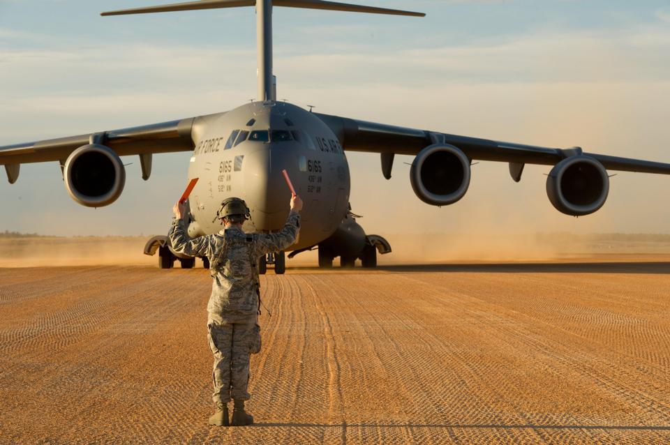 Free A C-17 Globemaster III to Geronimo landing zone