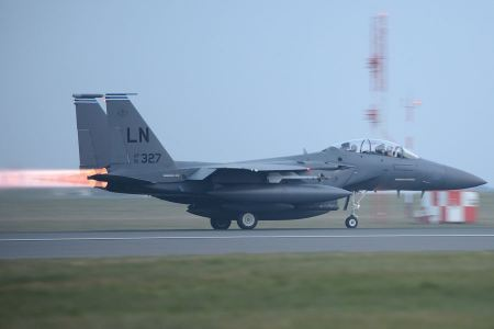Free An F-15E Strike Eagle takes off from the flightline