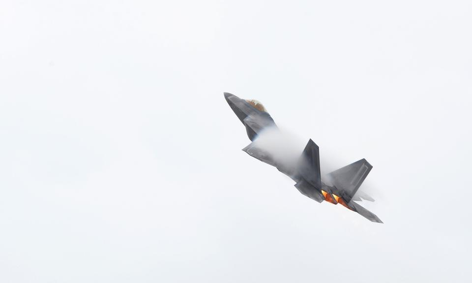 Free F-22 Raptor takes off for a training mission