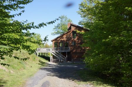 Free Log cabin and trees in Canaan Valley Resort State Park