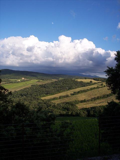 Free sky campaign vineyard landscape tuscany