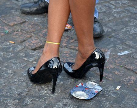 Free Male lags in high heels in Gay Festival