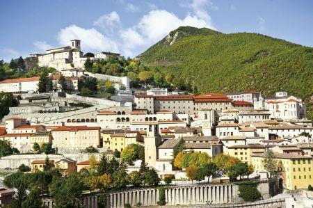Free A View of Cascia, Umbria, Italy
