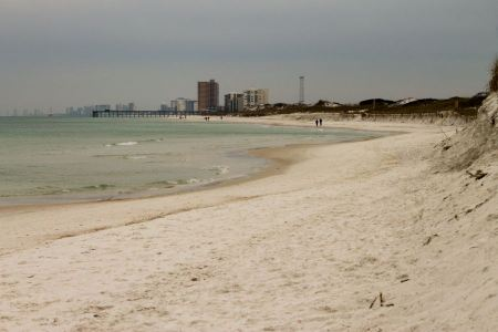 Free The shoreline of a beach at Panama City Beach, Florida