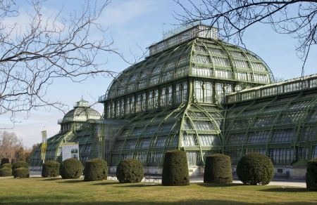 Free old greenhouse in schonbrunn palace at Vienna Austria