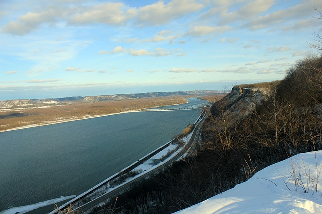 Free mississippi river bluff landscape scenic