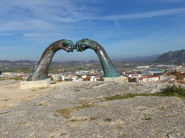 Free xativa spain landscape sculpture monument arms