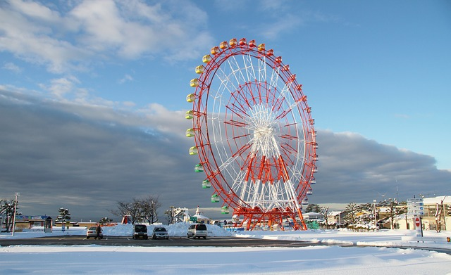 Free ouzu japan sky clouds scenic ferris wheel ride