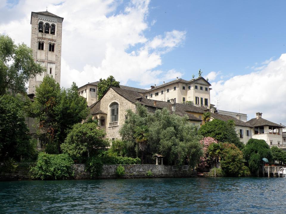 Free San Giulio Island, Lake Orta, Piedmont, Italy