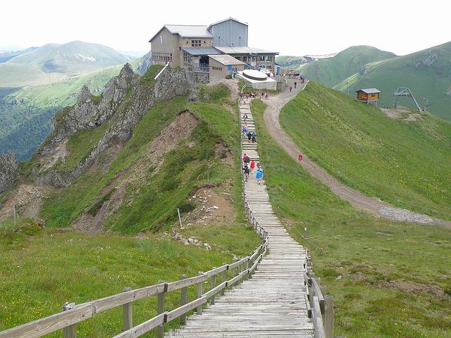Free france landscape scenic bridge wooden people