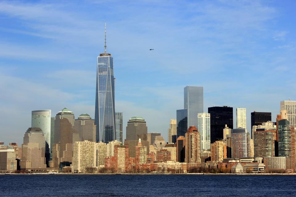 Free New York City panorama with Manhattan Skyline