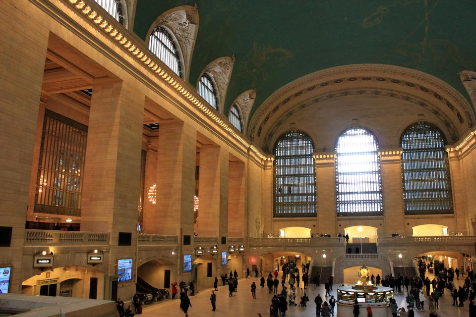 Free Main lobby at Grand Central Terminal circa New York