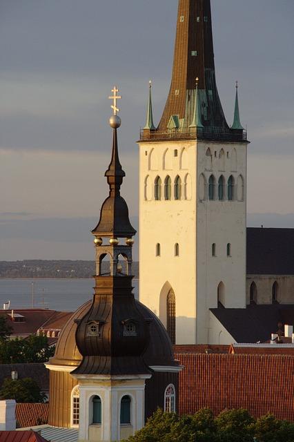 Free estonia tallinn old town olaf church