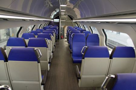 Free Empty interior of a passenger train