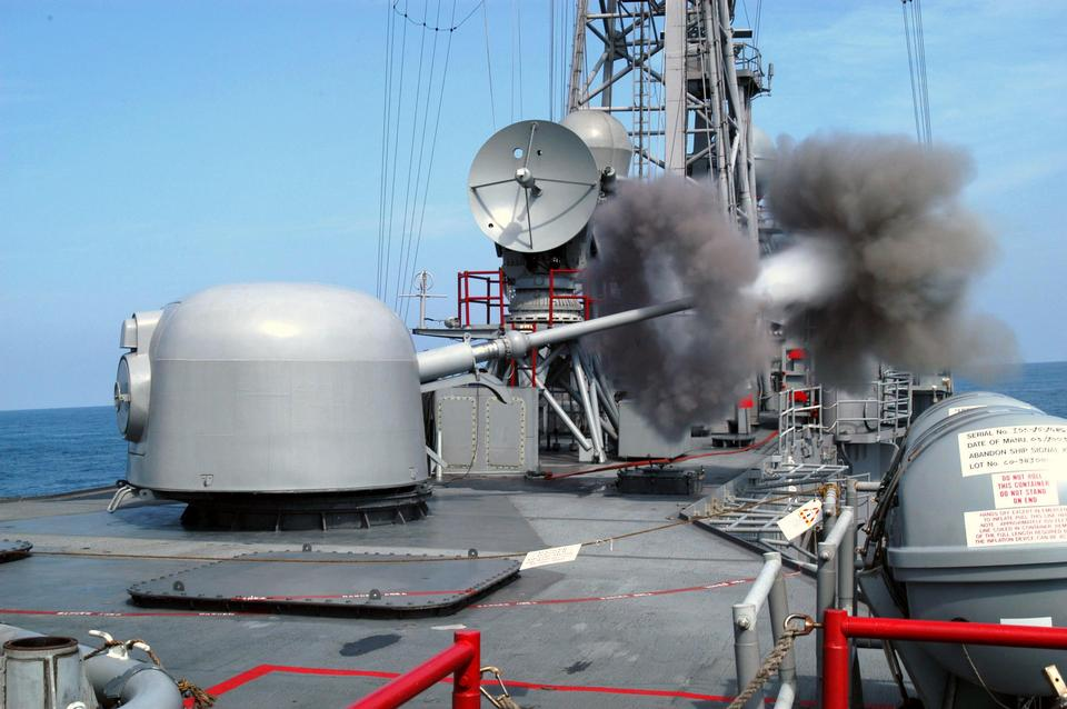 Free The 62 caliber three-inch gun aboard the guided missile frigate
