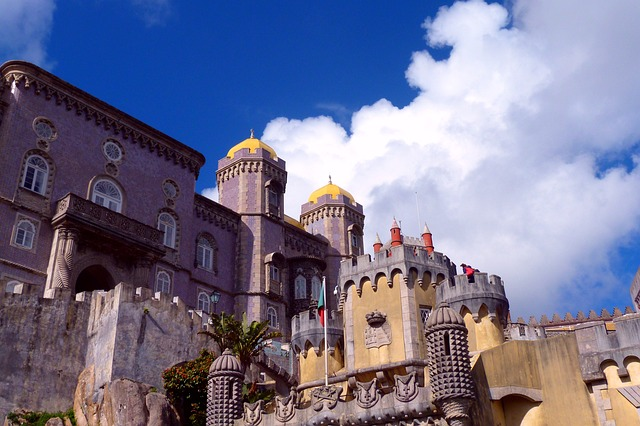 Free Photos: Palace castle old masonry sintra sky clouds | Peter Kraayvanger