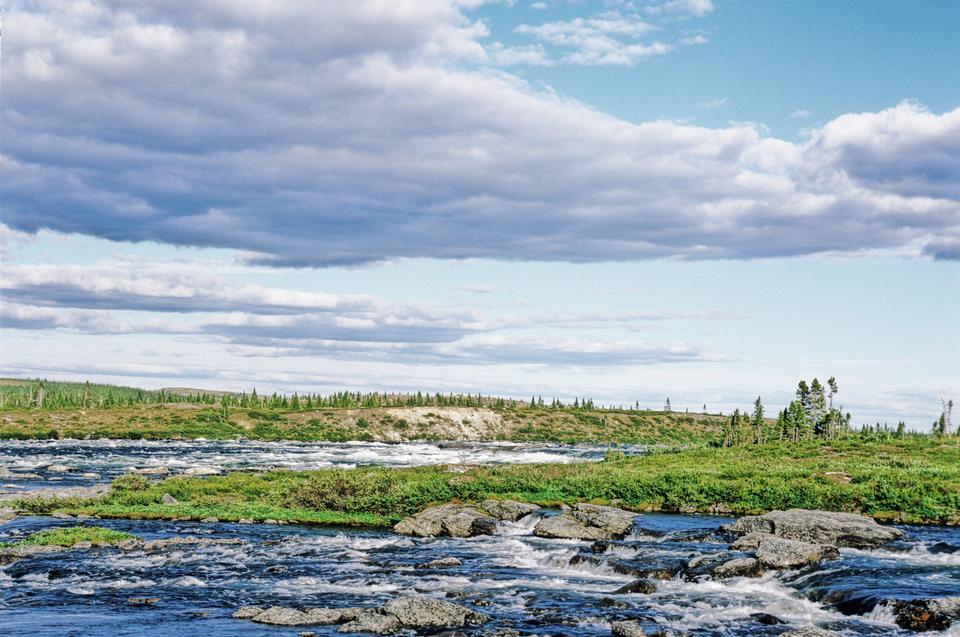 Free Nastapoka River in Quebec, Canada