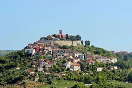 Free Medieval town Motovun on a top of a hill, Croatia